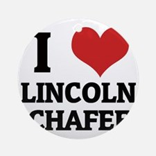 LINCOLN CHAFEE Round Ornament