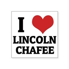 "LINCOLN CHAFEE Square Sticker 3"" x 3"""