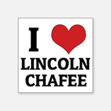 """LINCOLN CHAFEE Square Sticker 3"""" x 3"""""""