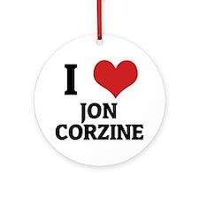 JON CORZINE Round Ornament
