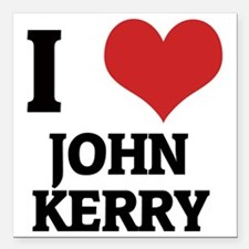 "JOHN KERRY Square Car Magnet 3"" x 3"""