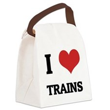 TRAINS Canvas Lunch Bag