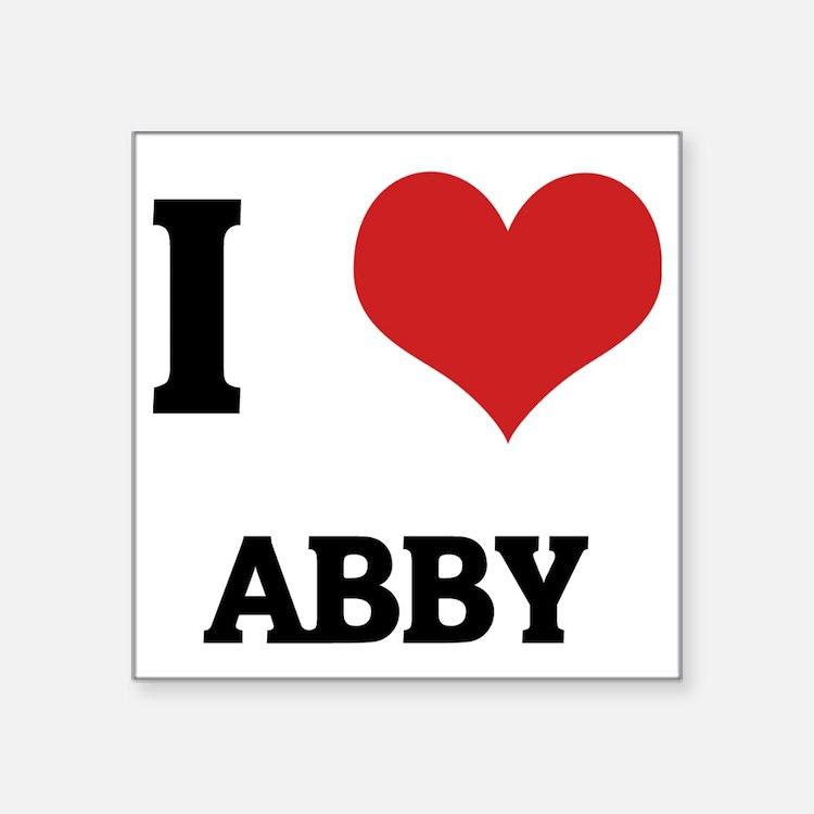 "ABBY Square Sticker 3"" x 3"""