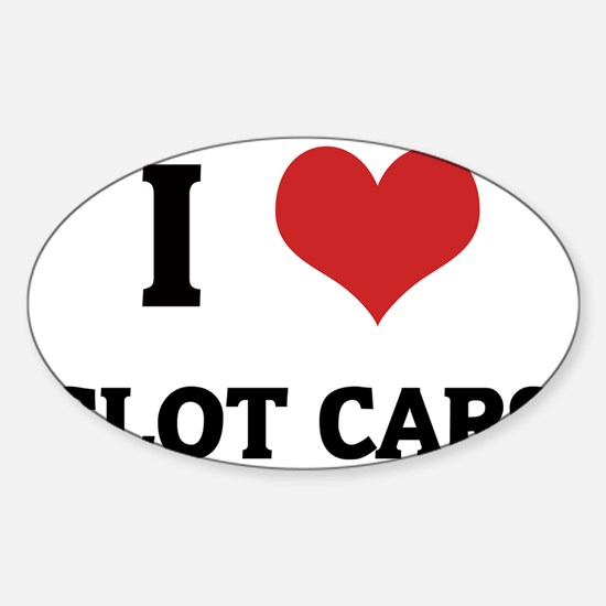SLOT CARS Sticker (Oval)
