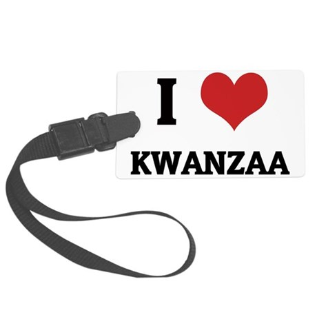 KWANZAA Large Luggage Tag