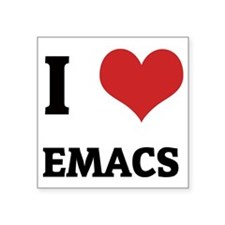 "EMACS Square Sticker 3"" x 3"""