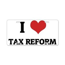 TAX REFORM Aluminum License Plate