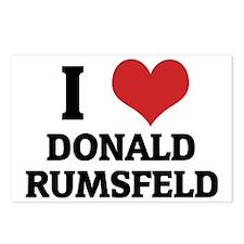 DONALD RUMSFELD Postcards (Package of 8)