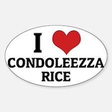 CONDOLEEZZA RICE Sticker (Oval)