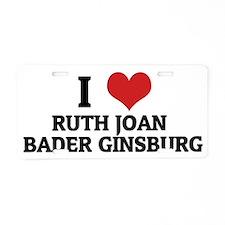 RUTH JOAN BADER GINSBURG Aluminum License Plate