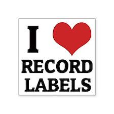"""RECORD LABELS Square Sticker 3"""" x 3"""""""