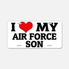 MY AIR FORCE SON Aluminum License Plate