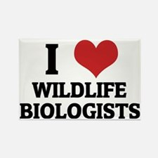 WILDLIFE BIOLOGISTS Rectangle Magnet