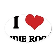 INDIE ROCK Oval Car Magnet