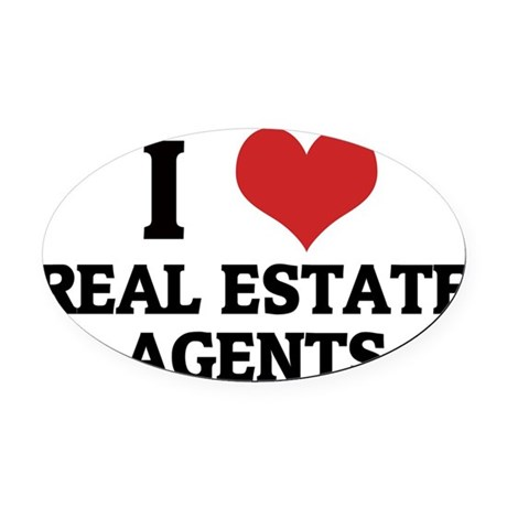 REAL ESTATE AGENTS Oval Car Magnet