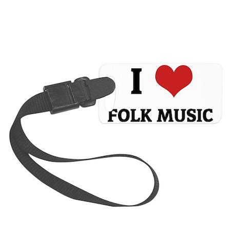 FOLK MUSIC Small Luggage Tag
