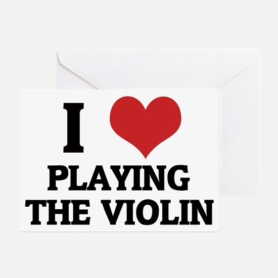 PLAYING THE VIOLIN Greeting Card