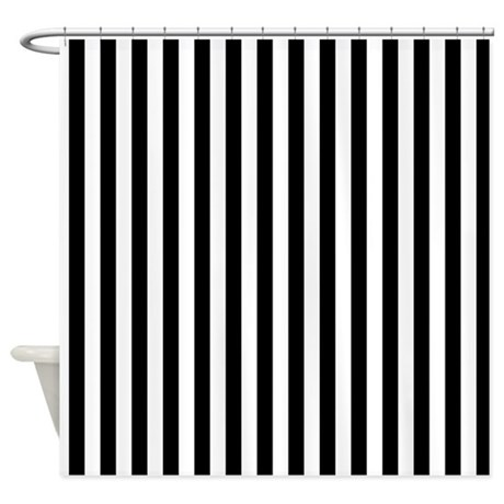 Black And White Stripes Shower Curtain By Graphicallusions: black and white striped curtains