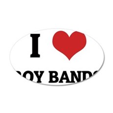 BOY BANDS 35x21 Oval Wall Decal