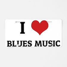 BLUES MUSIC Aluminum License Plate
