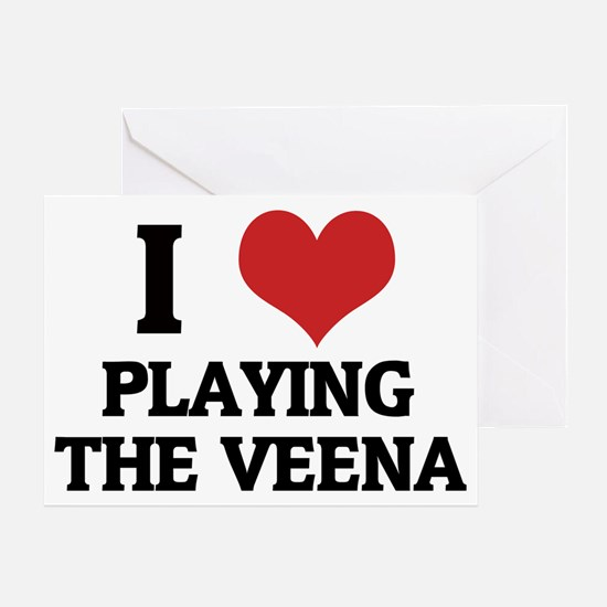 PLAYING THE VEENA Greeting Card