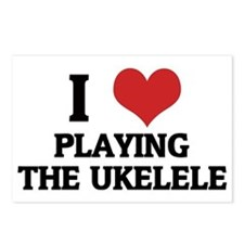 PLAYING THE UKELELE Postcards (Package of 8)