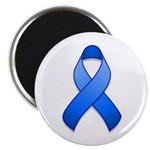 "Blue Awareness Ribbon 2.25"" Magnet (100 pack)"
