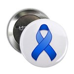 Blue Awareness Ribbon Button