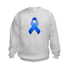 Blue Awareness Ribbon Sweatshirt