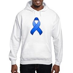 Blue Awareness Ribbon Hoodie