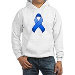 Blue Awareness Ribbon Hooded Sweatshirt