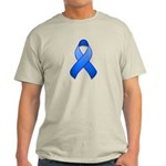 Blue Awareness Ribbon Light T-Shirt