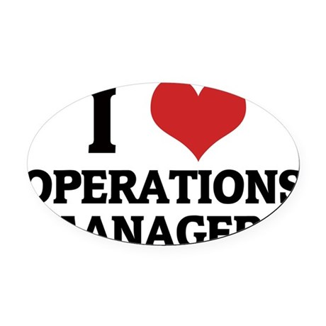 OPERATIONS MANAGERS Oval Car Magnet