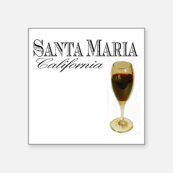 """Santa Maria Wine Square Sticker 3"""" x 3"""""""