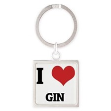 GIN Square Keychain