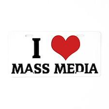 MASS MEDIA Aluminum License Plate