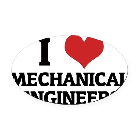 MECHANICAL ENGINEERS Oval Car Magnet