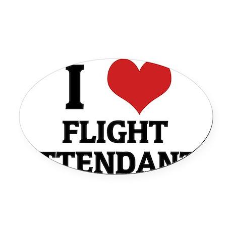 FLIGHT ATTENDANTS__ Oval Car Magnet