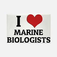 MARINE BIOLOGISTS Rectangle Magnet