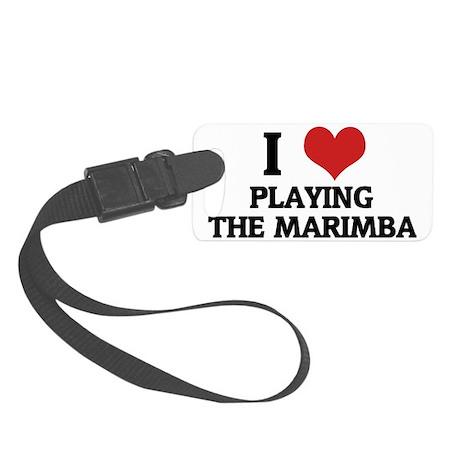 PLAYING THE MARIMBA Small Luggage Tag