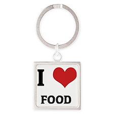 FOOD Square Keychain