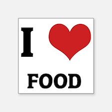 "FOOD Square Sticker 3"" x 3"""