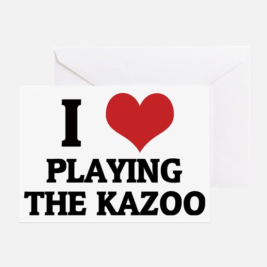 PLAYING THE KAZOO Greeting Card