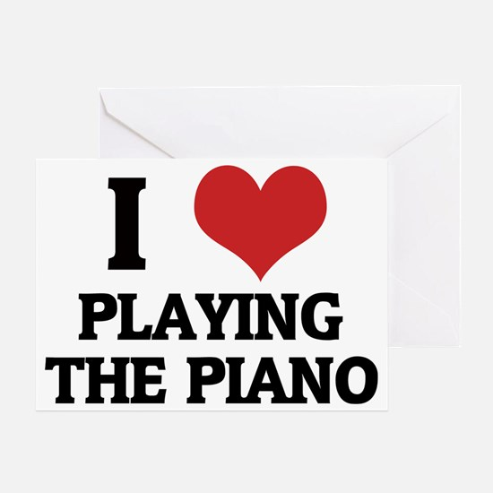 PLAYING THE PIANO Greeting Card