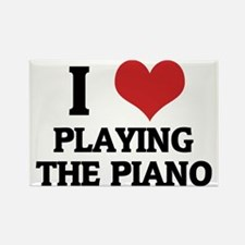 PLAYING THE PIANO Rectangle Magnet