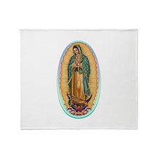 Virgin Guadalupe Throw Blanket