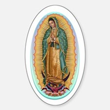 Virgin Guadalupe Sticker (Oval)