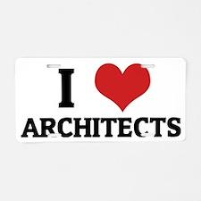 ARCHITECTS Aluminum License Plate