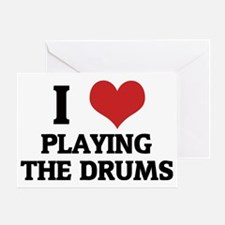 PLAYING THE DRUMS Greeting Card