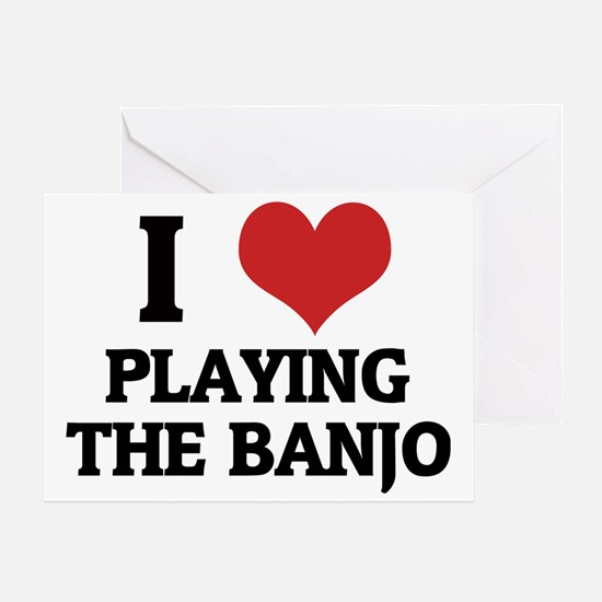 PLAYING THE BANJO Greeting Card